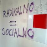 grafitarska akcija: VSD Ven iz predavalnic!