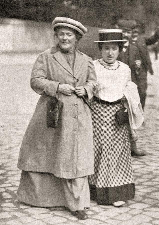 Clara Zetkin in Rosa Luxemburg