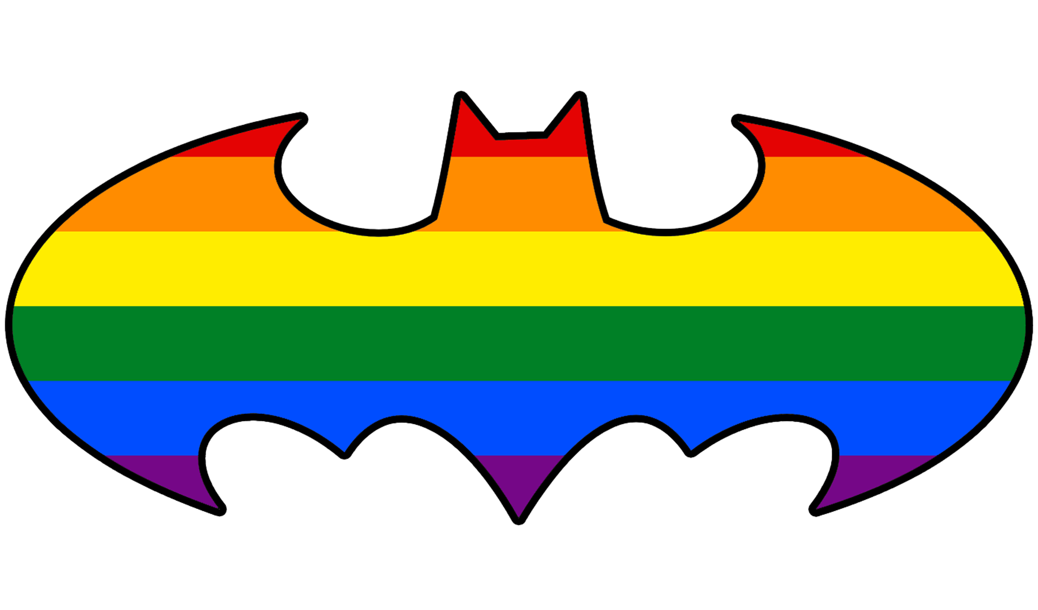 Batman LGBT symbols Gay pride Bisexual pride flag - adventure time @kissing.com